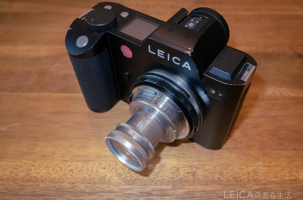 Leica SLにズマールを装着した姿